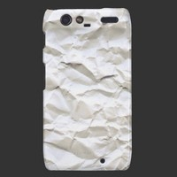 White Trash (crumpled paper) Droid RAZR Cases from Zazzle.com