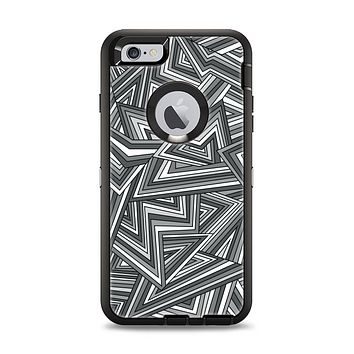 The Jagged Abstract Graytone Apple iPhone 6 Plus Otterbox Defender Case Skin Set