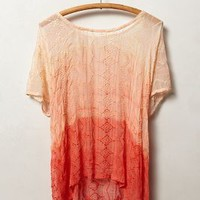 Ombre Silk Tee by Gypsy 05 Coral S Apparel