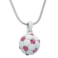 Gemmed Soccer Ball Necklace