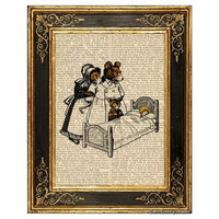 Goldilocks and Three Bears Art Print