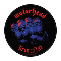 Motorhead Men's Iron Fist Woven Patch Black
