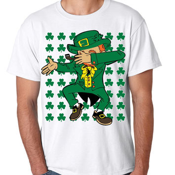 Dabbing Irish Leprechaun St patrick men t-shirt