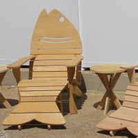 Fish Chair Custom Built Adirondack Chairs