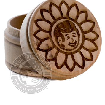Plug Boy Sunflower - Engraved Plug Box