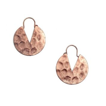 Antique Copper Drop Earrings For Women