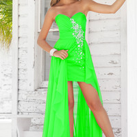 Lovely Sweetheart Chiffon Beading spring green Prom Dress Style 9315-6,Pageant gowns