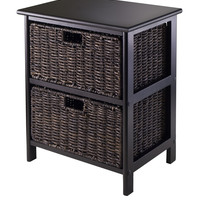 Winsome Omaha Storage Rack with 2 Foldable Baskets