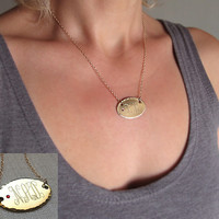 Personalized Medical Alert Pendant / Allergic Alert Gold Necklace / Medical Alert Necklace