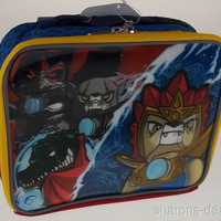 Lego Chima Lenticular 3D Insulated Tote Bag School Lunch Box Sack Laval Cragger