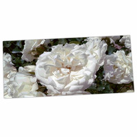 "Julia Grifol ""Flores Blancas"" White Nature Desk Mat"