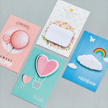 New Creative Kawaii Memo Pads Office School Cute Note Supplies Post-it Sticky Notes Daily Schedule Paper Pad Planner Sticky Note