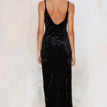 Black Velvet Dress(Nasty Gal)