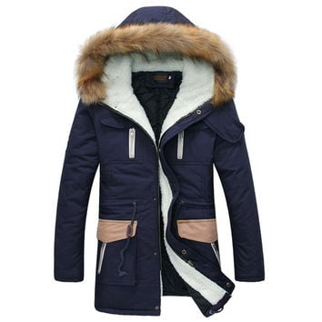 2014 New Style Men/Women Down Jacket 100% Cotton Keep Warm Mens Winter Jacket Thicken Fur Hooded Down Coat Men's Clothing = 1932632452