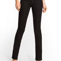 Starlet Low-Rise Straight Jeans with Silicone Rinse