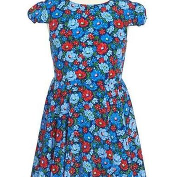 Girl's Ralph Lauren Floral Print Dress