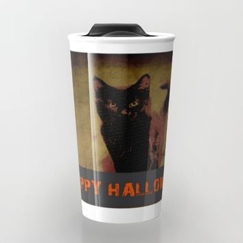 Halloween  Travel Mug by Jessica Ivy