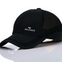 Black JIDOOHOX Embroidered Quick-dry Sports Hiking Baseball Cap