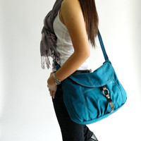 SALE - Claire in Teal // Messenger / Diaper bag / Shoulder bag / Tote / Purse / Handbag / Hip bag / Women / For her