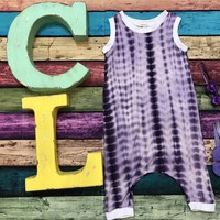 Baby & Toddler Purple Tie Dye Romper