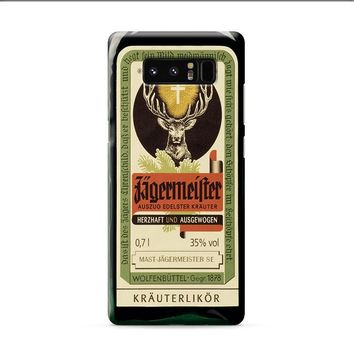 Jagermeister Retro Bottle Samsung Galaxy Note 8 case