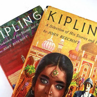 Kipling Vintage Books /  Book Decor / Book Bundle / Home Decor / Instant Library / Kipling / Decorative Books