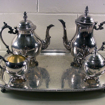 Vintage Silver Plate 5-Pc Coffee Serving Set FB Rogers