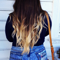 CUSTOM OMBRE HAIR // clip in hair extensions //  Choose your colors