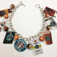 Starbucks Charm Bracelet by KarinaMadeThis on Etsy