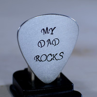 My Dad Rocks aluminum guitar pick