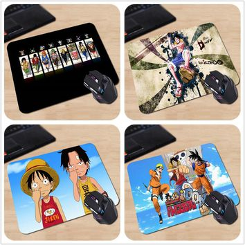 Japanese Anime One Piece Personalized Mouse Pad Colorful Monkey D. Luffy Crew Flag Skull Laptop PC Computer Gaming Mouse Mat