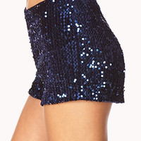 High-Waisted Sequined Shorts