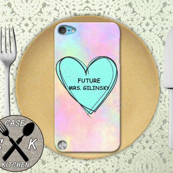 Future Mrs. Gilinsky Pink Pastel Tumblr Candy Heart Custom Rubber Case iPod 5th Generation and Plastic Case For The iPod 4th Generation