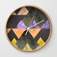 Marble Mountains Wall Clock by sm0w