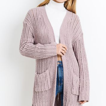 Come In Handy Cardigan - Dusty Blush