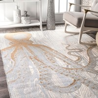 nuLOOM Thomas Paul Metallic Octopus Tassel Area Rug