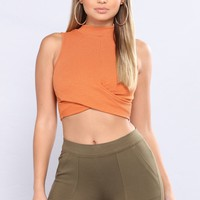 Give A Look Tank Top - Orange