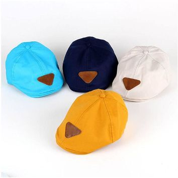 Solid Cotton Baby Beret Hat