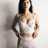Agnes High Waist Brief Ivory - Lonely Label