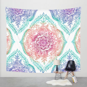 Indian Ink - Rainbow version Wall Tapestry by Micklyn