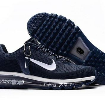 Fashion Nike Air Max 2017. 5 KPU Navy Blue And White Sneakers Men's Running Shoes