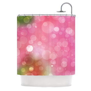 "KESS Original ""Gypsy"" Pink Bokeh Shower Curtain"