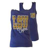 Southern Couture LSU Tigers  Louisiana State University Aztec Tribal Girlie Bright Tank Top