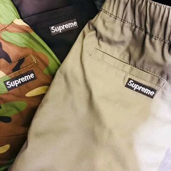 Supreme Men Fashion Print Sport Stretch Pants Trousers Sweatpants G-WMGCD