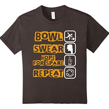 Bowl Swear Hope For Spare Repeat Checklist Funny T Shirt
