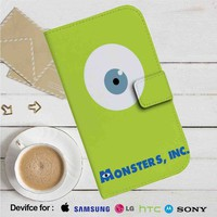 Monsters Inc Mike Wazowski Eyes Leather Wallet iPhone 4/4S 5S/C 6/6S Plus 7| Samsung Galaxy S4 S5 S6 S7 NOTE 3 4 5| LG G2 G3 G4| MOTOROLA MOTO X X2 NEXUS 6| SONY Z3 Z4 MINI| HTC ONE X M7 M8 M9 CASE