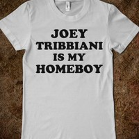 Joey Tribbiani is My Homeboy-Female Silver T-Shirt