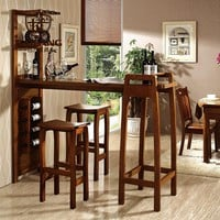 Home solid wooden bar furniture set bar table and chair Z3036