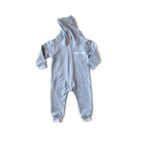 Oversized Fleece Jumpsuit Heather Gray
