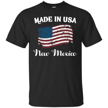 Made in USA Proud New Mexico Flag T-Shirt_Black